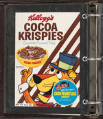 """KELLOGG'S SALES COMPANY"" SALESMAN'S CEREAL BOX & PREMIUMS BINDER WITH MUCH HANNA-BARBERA CONTENT."
