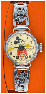 """INGERSOLL MICKEY MOUSE WRIST WATCH"" FIRST VERSION IN 1933 CHICAGO EXPOSITION BOX."