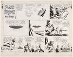 """FLASH GORDON"" ORIGINAL SUNDAY PAGE ART BY MAC RABOY."