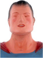 """SUPERMAN DOLL"" WOOD & COMPOSITION JOINTED IDEAL FIGURE & VERY RARE BOX."