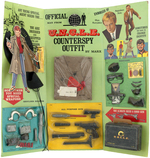 """THE MAN FROM U.N.C.L.E. COUNTERSPY OUTFIT"" ELABORATE MARX STORE DISPLAY."