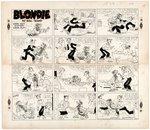 BLONDIE 1956 SUNDAY PAGE ORIGINAL ART. Comic Art