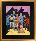 BATMAN FAMILY FRAMED SPECIALTY ORIGINAL ART BY SHELDON MOLDOFF. Comic Art