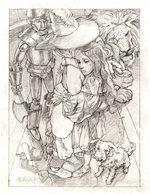 THE WONDERFUL WIZARD OF OZ - THE FINAL GOODBYE GREG HILDEBRANDT PENCIL ORIGINAL ART. Comic Art
