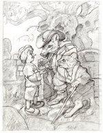 PINOCCHIO - FIVE GOLD PIECES GREG HILDEBRANDT PENCIL ORIGINAL ART. Comic Art
