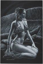 STAR WARS: RETURN OF THE JEDI SLAVE LEIA ORIGINAL ART BY GREG HILDEBRANDT. Comic Art