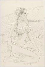 STAR WARS: RETURN OF THE JEDI SLAVE LEIA GREG HILDEBRANDT PENCIL ORIGINAL ART. Comic Art
