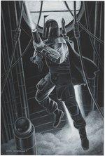 STAR WARS BOBA FETT ORIGINAL ART BY GREG HILDEBRANDT. Comic Art