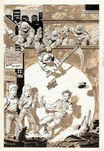 TEENAGE MUTANT NINJA TURTLES MICHELANGELO #1 PIN-UP ORIGINAL ART BY KEVIN EASTMAN. Comic Art