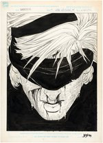 DAREDEVIL: THE MAN WITHOUT FEAR #1 COMIC BOOK TITLE SPLASH PAGE ORIGINAL ART BY JOHN ROMITA JR. Comic Art
