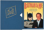 BOB KANE BATMAN AND ME SIGNED & NUMBERED DELUXE EDITION BOOK WITH SKETCH. Comic Art