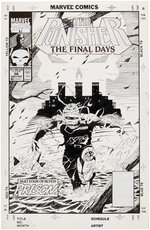 THE PUNISHER VOL. 2 #56 COMIC BOOK COVER ORIGINAL ART BY JOE QUESADA. Comic Art