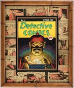 CREIG FLESSEL DETECTIVE COMICS #8 COVER RECREATION ORIGINAL ART CUSTOM FRAMED DISPLAY. Comic Art