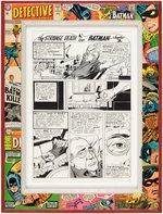 CARMINE INFANTINO DETECTIVE COMICS #347 COMIC BOOK PAGE ORIGINAL ART CUSTOM FRAMED DISPLAY. Comic Art