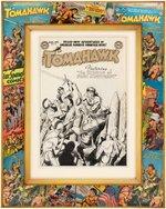 BOB BROWN TOMAHAWK #16 COMIC COVER ORIGINAL ART CUSTOM FRAMED DISPLAY. Comic Art