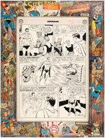 CURT SWAN SUPERMAN #137 COMIC BOOK PAGE ORIGINAL ART CUSTOM FRAMED DISPLAY. Comic Art