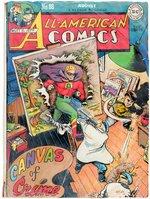 ALL-AMERICAN COMICS #88 LARGE COMIC RECREATION BY IRWIN HASEN & DAN MAKARA. Comic Art