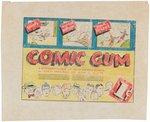 COMIC GUM GOUDEY PROTOTYPE ORIGINAL ART PAIR. Comic Art