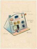 CAPTAIN VIDEO ELECTRONIC PANEL PUNCH-OUT ORIGINAL ART. Comic Art