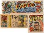 CAPTAIN VIDEO PREMIUM COMIC BOOK & COMIC STRIP FOLDERS PROTOTYPES ORIGINAL ART. Comic Art