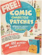 COMIC CHARACTER PATCHES PREMIUM SIGN PROTOTYPE ORIGINAL ART WITH DICK TRACY & ORPHAN ANNIE. Comic Art
