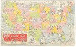 BUGS BUNNY MAP OF THE UNITED STATES PREMIUM ORIGINAL ART. Comic Art