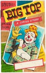 BIG TOP - A CIRCUS STORY PROTOTYPE COMIC BOOK ORIGINAL ART. Comic Art