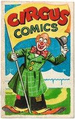 CIRCUS COMICS PROTOTYPE COMIC BOOK ORIGINAL ART. Comic Art