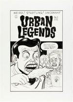 DANIEL CLOWES URBAN LEGENDS #1 COMIC BOOK COVER ORIGINAL ART. Comic Art