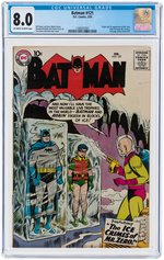 """BATMAN"" #121 FEBRUARY 1959 CGC 8.0 VF (FIRST MR. ZERO/MR. FREEZE)."