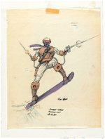 G.I. JOE (SNOBRA) SNOW SERPENT (V2) EARLY PRESENTATION ORIGINAL ART KURT GROEN PAIR.
