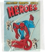 """AMAZING MARVEL SUPER HEROES"" VERY RARE MACMAN SAMPLE LABEL AND SPIDER-MAN FLEXI-RING."