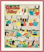 """GASOLINE ALLEY"" HAND-COLORED 1946 SUNDAY PAGE ORIGINAL ART BY FRANK KING FRAMED DISPLAY."