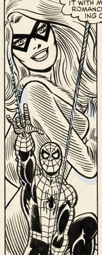 "JOHN ROMITA JR. ""AMAZING SPIDER-MAN"" #247 COMIC BOOK PAGE ORIGINAL ART INKED BY JOHN ROMITA SR."