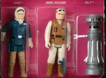 """STAR WARS: THE EMPIRE STRIKES BACK - HOTH REBELS SET"" 3-PACK SERIES 1 AFA 75 EX+/NM."