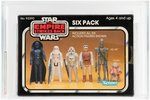 """STAR WARS: THE EMPIRE STRIKES BACK - SIX PACK"" YELLOW BOX AFA 90 NM+/MT."