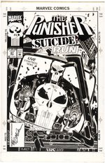 """THE PUNISHER"" VOL. 2 #87 COMIC BOOK COVER ORIGINAL ART BY MICHAEL GOLDEN."