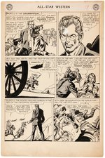 """ALL-STAR WESTERN"" #107 COMIC BOOK PAGE ORIGINAL ART BY GIL KANE."