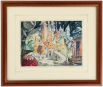 "BILL HERWIG ""BARON MUNCHAUSEN"" FRAMED DISNEY CONCEPT ORIGINAL ART."