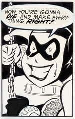 """BATMAN ADVENTURES: MAD LOVE"" COMIC BOOK PAGE ORIGINAL ART FEATURING HARLEY QUINN BY BRUCE TIMM."