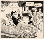 """GASOLINE ALLEY"" AUGUST 7, 1936 DAILY COMIC STRIP ORIGINAL ART BY FRANK KING."
