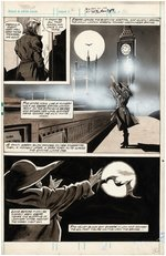 """THE TOMB OF DRACULA"" #1 MARVEL COMICS MAGAZINE ORIGINAL ART PAGE BY GENE COLAN."