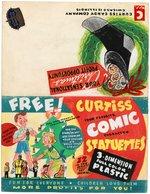 """CURTISS CANDY COMPANY"" CHRISTMAS PROMOTIONAL FOLDER WITH COMIC STATUETTES PROTOTYPE ORIGINAL ART."
