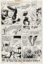 """MARVEL TWO-IN-ONE"" #9 COMIC BOOK PAGE ORIGINAL ART BY HERB TRIMPE."