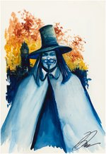"""V FOR VENDETTA"" PAINTING ORIGINAL ART BY DAVID LLOYD."