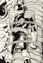 "JUDGE DREDD ""THE LAW OF DREDD"" #7 COMIC BOOK COVER ORIGINAL ART BY JIM FERN."