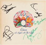 "QUEEN ""A NIGHT AT THE OPERA"" BAND-SIGNED LP ALBUM COVER."