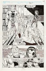 """NEW MUTANTS"" #98 COMIC BOOK PAGE ORIGINAL ART BY ROB LIEFELD (FIRST DEADPOOL)."