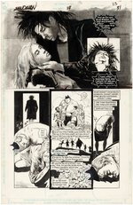 """SANDMAN"" #14 COMIC BOOK PAGE ORIGINAL ART BY MIKE DRINGENBERG."