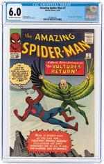 """AMAZING SPIDER-MAN"" #7 DECEMBER 1963 CGC 6.0 FINE."